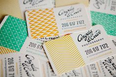 Angela and Evan Photography - Business Card Design Inspiration Graphic Design Branding, Corporate Design, Business Card Design, Typography Design, Collateral Design, Business Card Maker, Unique Business Cards, Creative Business, Photography Business Cards