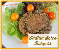 Sprouted Lentil Indian Spice Burgers from Carrie on Living | www.carrieonliving.com