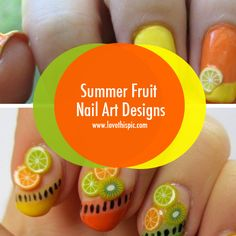 Summer Fruit Nail Art Designs girly cute nails beautiful nail art nail designs