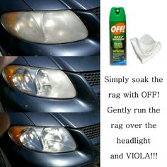 Quick And Simple Headlight Cleaner! Homemade Cleaning Supplies, Car Cleaning Hacks, Car Hacks, Diy Cleaning Products, Deep Cleaning, Car Products, Cleaning Headlights On Car, How To Clean Headlights, Cleaning