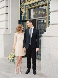 A city hall wedding we cant stop looking at the cool bride carrie bradshaw made city hall weddings a trend showing that true love and romance doesnt require a big venue junglespirit Choice Image