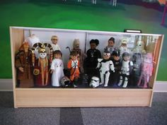 My dolls currently on display at the Joilet Area Historical Museum.