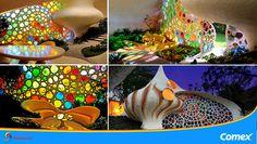 Casa Nautilus en la Ciudad de México, es una de las últimas obras del arquitecto mexicano Javier Senosiain. Sus formas son inspiración de las conchas de las criaturas marinas Nautilus, creando así un hogar alegre, colorido y muy original.  #ColoresDeMiMéxico