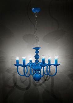 Italamp Lampadario in cristallo 281/6 EVOQUE Turchese - Lampadari - Contemporanei - ITALAMP Cult Edition - Illuminazione - Negozio Online - Sfera srls