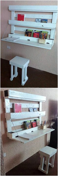 pallets hanging study desk idea
