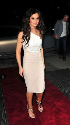 CHERYL COLE. The white dress it cute but her hair is a bit crazy... i think she should of tied it back!!!!