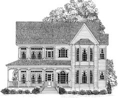 Eplans Victorian House Plan - Relaxing Front Porch - 2682 Square Feet and 4 Bedrooms from Eplans - House Plan Code Sims 4 House Plans, Sims House, Dream House Plans, House Floor Plans, Victorian House Plans, Victorian Homes, Victorian Design, Renaissance Architecture, Southern House Plans