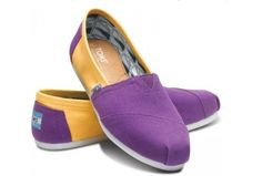 Purple and Gold Toms