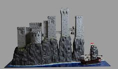 "Eggy Pop returned to building by constructing Castle Pyke from Game of Thrones. The castle sits atop ""the fingers"" which depict a hand emerging from the sea."