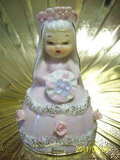Napco June Bride Birthday Girl Angel Bell Figurine