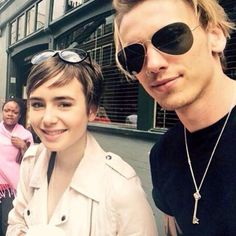 // Jamie and Lily together in London | June 24 2015 - #jamiecampbellbower #jamiebower #lilycollins #jamily