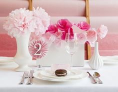 diy vintage wedding tissue paper flowers centerpieces - porcelain and metal tableware, table decoration, paper craft, wedding ornament