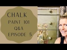 Chalk Paint 101 Questions et réponses: Épisode 5 - YouTube Episode 5, Looking Up, Chalk Paint, This Or That Questions, Youtube, Books, Painting, Art, Riddle Questions And Answers