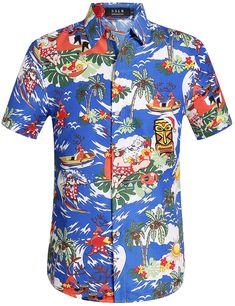 602174383 $19.00 Paradise Blue Christmas Hawaiian Shirt for Men Christmas Hawaiian  Shirts, Mens Hawaiian Shirts,