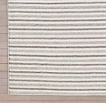 Double Stripe Flatweave Rug Swatch - Oatmeal 10x14