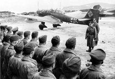 Erhard Milch addressing a JU-87 staffel on a Norwegian airfield.  #war #ww2 #wwii #ju87 #stuka #german #germans #germany #deutsch #deutsche #deutscher #deutschland #luftwaffe #wehrmacht #army #military #1940s #ss #east #russia #russian #russians #sovietunion #nazi #thirdreich by germany__ww2