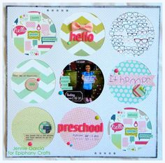 #scrapbook #layout created with the #epiphanycrafts Shape Studio Tool Round 25 available at all #MichaelsStores.