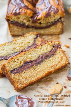 Nutella-Layered-and-Swirled+Peanut+Butter+Bread+{Peanut+Butter+Loaf+Cake}+-+Easy,+no-mixer+bread+baked+in+a+loaf+pan+that+tastes+like+cake!+Recipe+at+averiecooks.com
