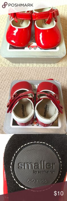 See Kai Run Infant Girl's Patent Red Mary Jane My favorite shoe brand for babies bc they stay on so well! Red patent letter with bow, perfect for the holidays. excellent condition. See Kai Run Shoes Dress Shoes