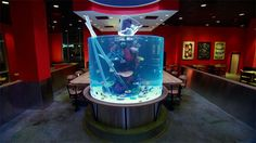 Bar Room Fish Tank