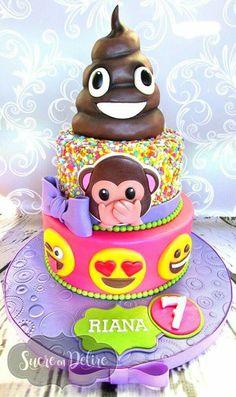 Totally awesome emoji cake!