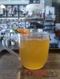 chinalife Peach Fuzz - Our medium roasted and fruity Peach Flower Oolong supercharged with fresh citrus juices.