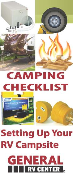 Camping Checklist - Step by Step Guide To Setting Up Your RV Campsite, Whether you have a towable or a motorhome - these rv tips are sure to help make your setup successful #rvblog #camping #gorving #rv