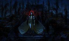 """Commission for """" « Il était le fléau, la plaie de notre temps. Norahslev, dieu des maux aux spectres malveillants, Tuant notre Altesse et bien-aimé Sandalphon Contemplait le mon..."""