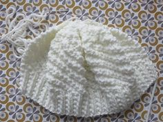 Bonnet blanc 3 Nighty Night, Knitted Hats, Knit Crochet, Knitting Patterns, Winter Hats, Gifts, Collection, Women, Couture