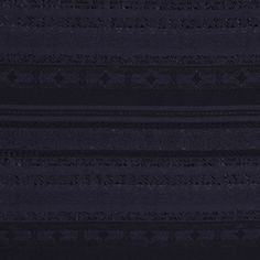A lightweight silk-blend woven with embroidered stripes running through it. From Italy. Black. Perfect for tops and dresses.