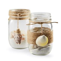 Free Kerr® Single Pint Mason Jar with the purchase of 2 Kerr® Single Pint Mason Jars (Reg. Seashell Crafts, Beach Crafts, Cute Crafts, Pot Mason Diy, Mason Jar Crafts, Bottles And Jars, Glass Jars, Decoration Hawai, Diy Arts And Crafts