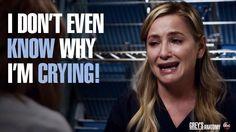 """I don't even know why I'm crying!"" Arizona Robbins, Grey's Anatomy … ""I don't even know why I'm crying! Grey's Anatomy, Greys Anatomy Characters, Greys Anatomy Cast, Meredith And Derek, Arizona Robbins, Jessica Capshaw, Lexie Grey, Grey Anatomy Quotes, Senior Quotes"