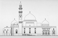 mosque drawing - Google Search Islamic Architecture, Geometric Art, Taj Mahal, Black And White, Cgi, Gallery, Building, Maya, Napkins