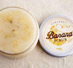 Banana Sugar Scrub - Bananas are rich in vitamins B and C and full of potassium.