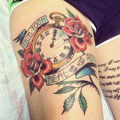 Tick tock tick tock... #TheHungerGames tattoo by juliebolene.