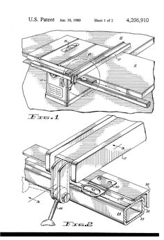 Diy table saw guide rail plans download the pdf diagram ez square table saw fence us4206910 1g 23203408 ccuart Images