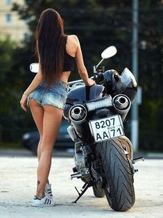 Super Bikes & Hot Girls 2019 Compilation - Stunts, Wheelie and Burnout Girl Riding Motorcycle, Motorbike Girl, Motorcycle Gear, Lady Biker, Biker Girl, Hot Bikes, Biker Chick, Super Bikes, Car Girls