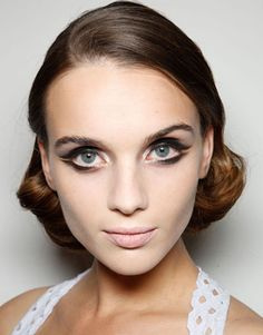 Cinematic cat eyes at Marios Schwab    #beauty #makeup #cateyes