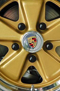 1974 Porsche 911 Carrera Coupe Wheel Emblem_Jill Reger