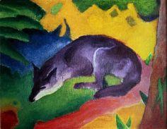 Franz Marc - Blue Fox, 1911 - jetzt bestellen auf kunst-fuer-alle.de