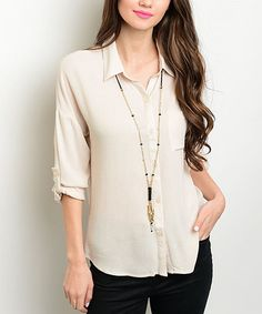 Another great find on #zulily! Oatmeal Button-Up #zulilyfinds