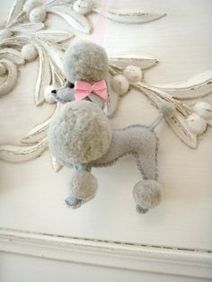 RESERVED for Sam Gibson two of Fifi the French Poodle via Etsy