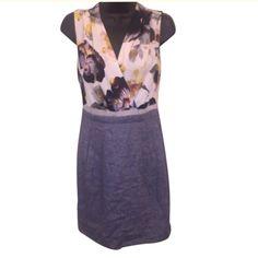 LAST CHANCE RACHEL ROY Floral faux wrap top denim bottom RACHEL Rachel Roy Dresses Mini