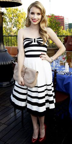 Look of the Day - August 11, 2011 - Emma Roberts in Kate Spade New York from #InStyle