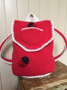 crochet backpack: Ladybird Ladybug by Kate Eastwood on the LoveCrochet blog