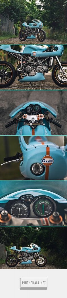 Gulf Dream - Jon Ball's Ducati 748 ~ Return of the Cafe Racers - created via https://pinthemall.net