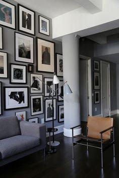 Un intérieur gris à New York