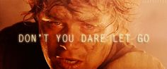 don't you dare let go!  -samwise gamgee<3