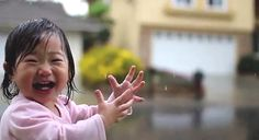 little girl named Kayden experiences rain on her face for the very first time, CA, USA. Little Girl Names, Little Girls, Smell Of Rain, Pregnancy Calendar, Falling From The Sky, Baby Play, Go Outside, Life Is Beautiful, I Movie