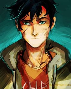 Percy Jackson. I like the actor who plays him to but I wanted to have some fan art on my board.